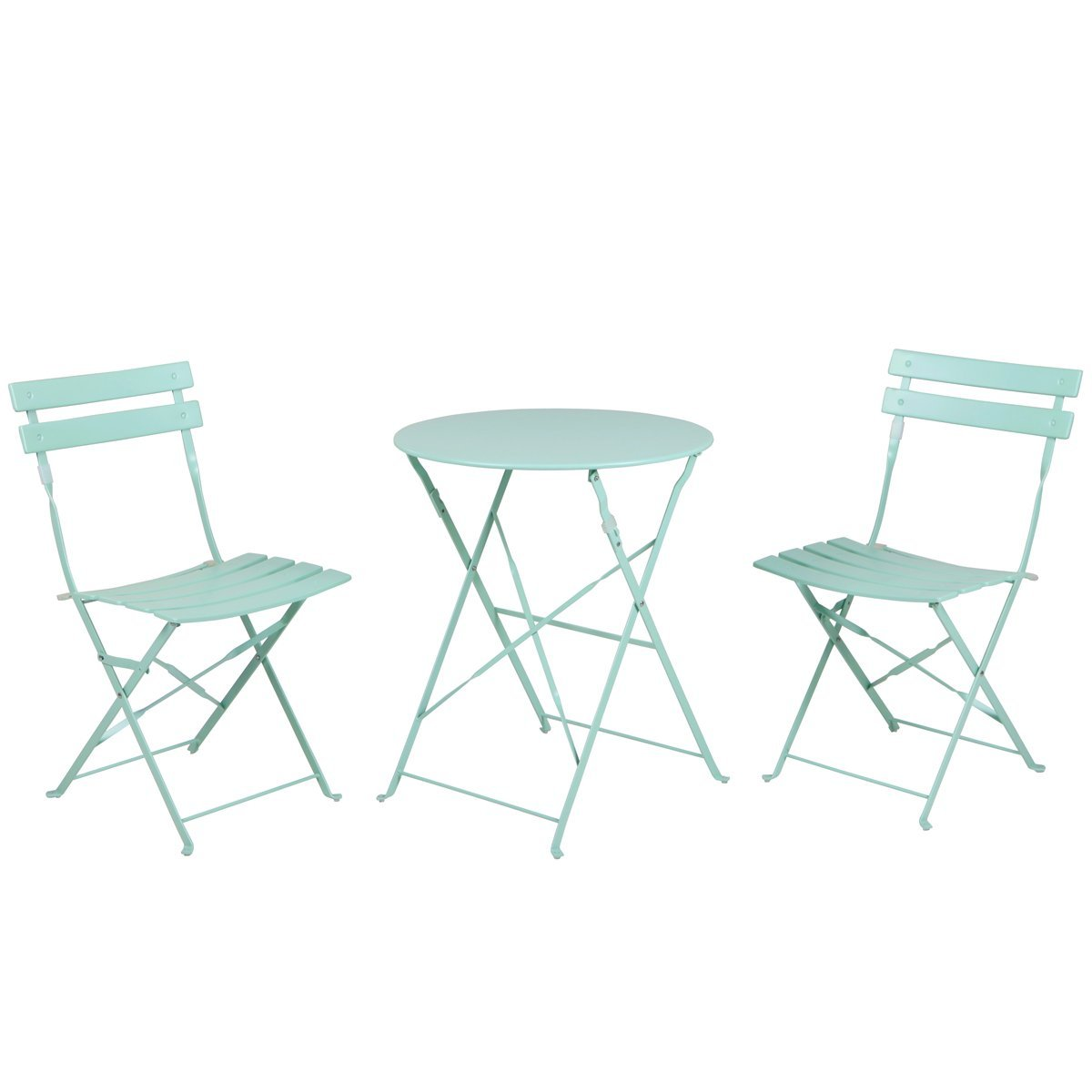 Grand Patio Outdoor Folding Bistro Patio Balcony Furniture Sets,Flat Foldable  Chairs And Table,