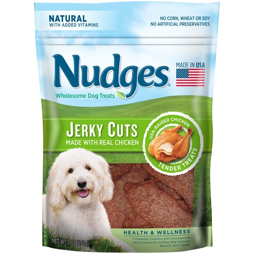 Nudges Health & Wellness Chicken Jerky Cuts Wholesome Dog Treats 5 oz. Bag by Tyson Pet Products, Inc.
