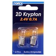 4PK-2 Pack 2D Kpr102 Krypton Bulb 2.4V 0.7A Use In 2D Flashlights