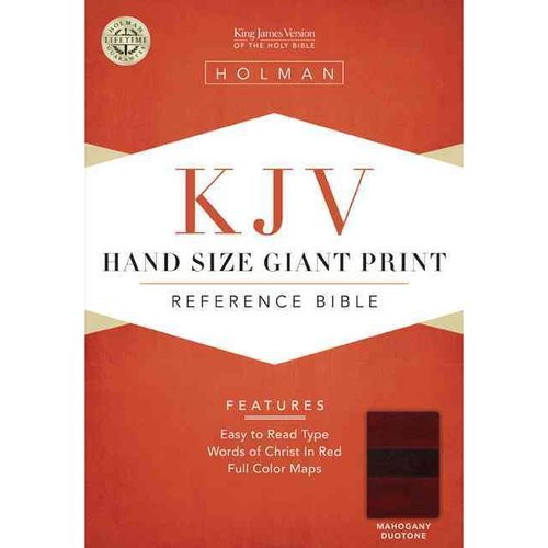The Holy Bible: King James Version, Mahogany Leathertouch, Hand Size Giant Print Reference Bible with Words of Christ in Red