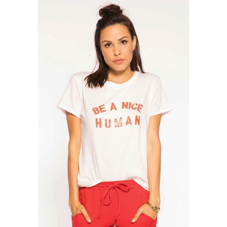 Sub Urban Riot Women's Athleisure Be a Nice Human Loose Tee