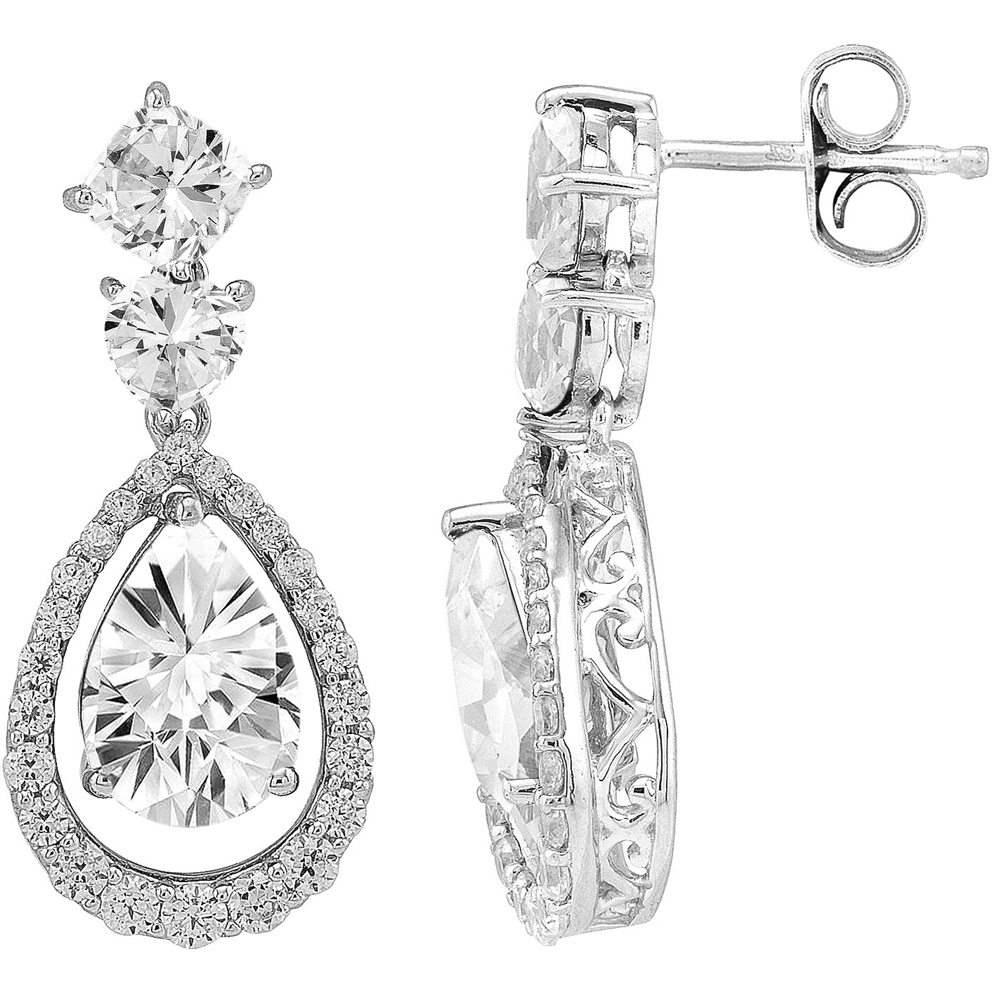 Her Special Day Jewelry CZ Sterling Silver Earrings