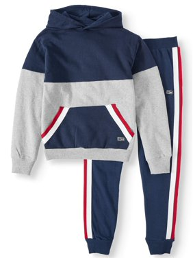 Beverly Hills Polo Club Fleece Hoodie and Side-Taped Jogger, 2-Piece Outfit Set (Little Boys & Big Boys)