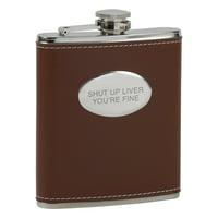 Shut Up Liver Brown Flask