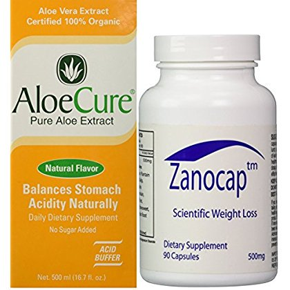 Image of AloeCure Pure Aloe Vera Juice and Diet Pill Combo