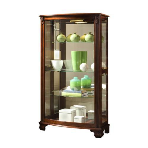 Sofaweb.com Brown Finish Mantel Height Curio Cabinet