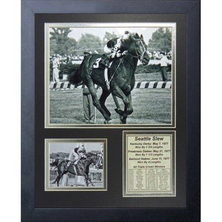 Legends Never Die Seattle Slew 1977 Triple Crown Winner Framed - Crown Frame