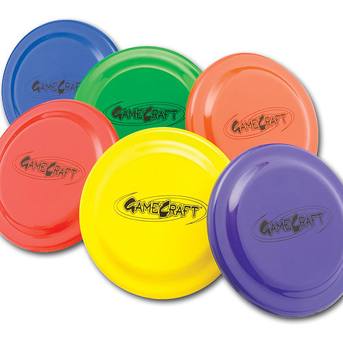 "9"" Plastic Flying Discs, Set of 6"