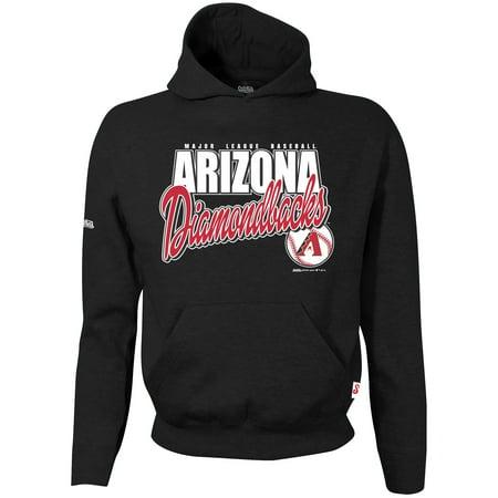 Arizona Diamondbacks Stitches Youth Team Logo Pullover Hoodie - Black - University Of Arizona Logo