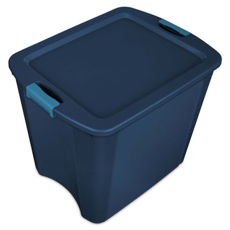 Sterilite 26 Gallon Latch and Carry Storage Tote, True Blue |