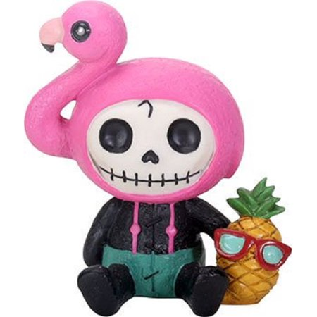 Furrybones Flamingo Star Skeleton with Flamingo Head and Pineapple Figurine New