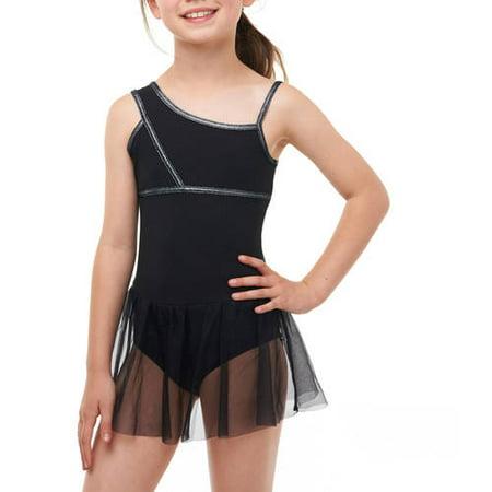 0b38016e0ae6 Danskin Now - Girls  Asymmetrical Strap Dance Leotard - Walmart.com
