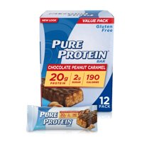 Pure Protein High Protein Bar Chocolate Peanut Caramel 1.76-Ounce Bar (Pack of 12), Protein Bars, 19 Grams of Protein, Gluten Free