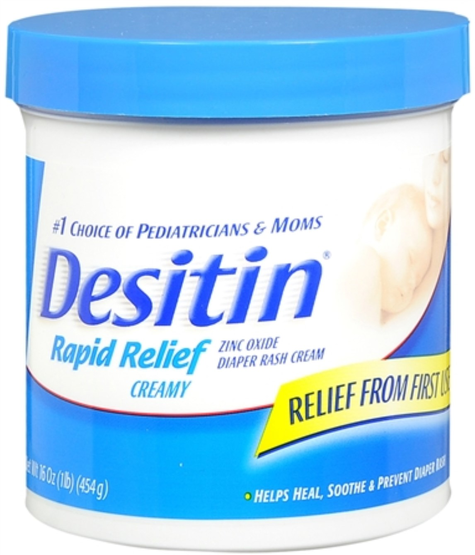 DESITIN Rapid Relief Diaper Rash Cream 16 oz (Pack of 4) by Desitin