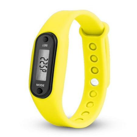 - Unisex Pedometer Bracelet Waterproof Smart Moving Bracelet for Running Walking Color:yellow