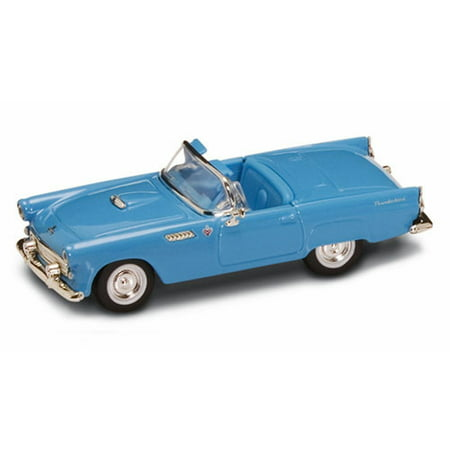 1955 Ford Thunderbird Convertible, Blue - Road Signature 94228 - 1/43 Scale Diecast Model Toy - Thunderbird Boat