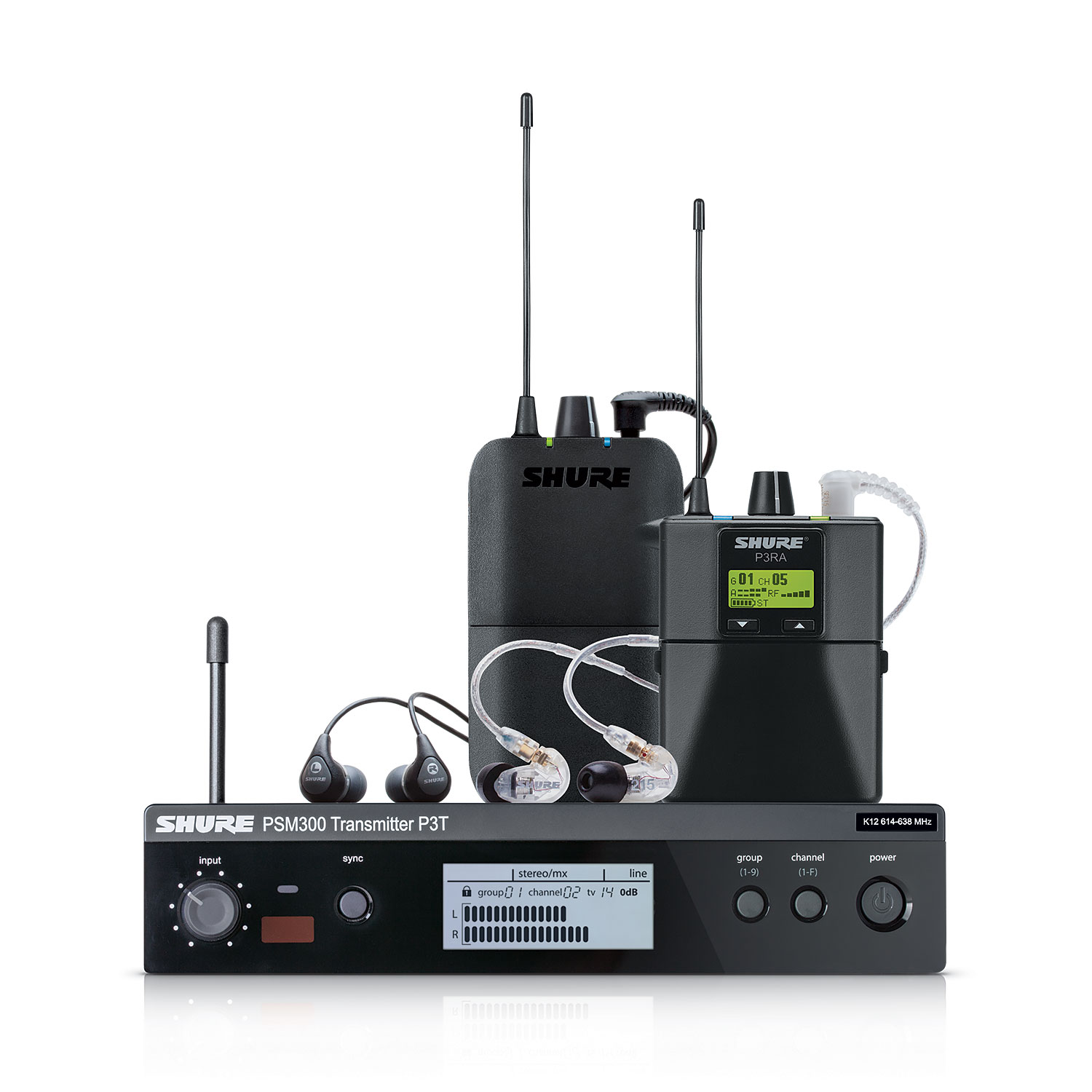 Shure P3TR112GR PSM300 Wireless System by Shure