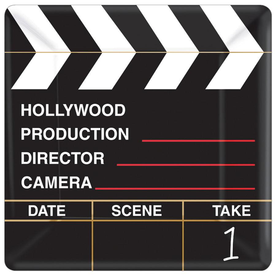 Clapboard Hollywood Dessert Plates (18)