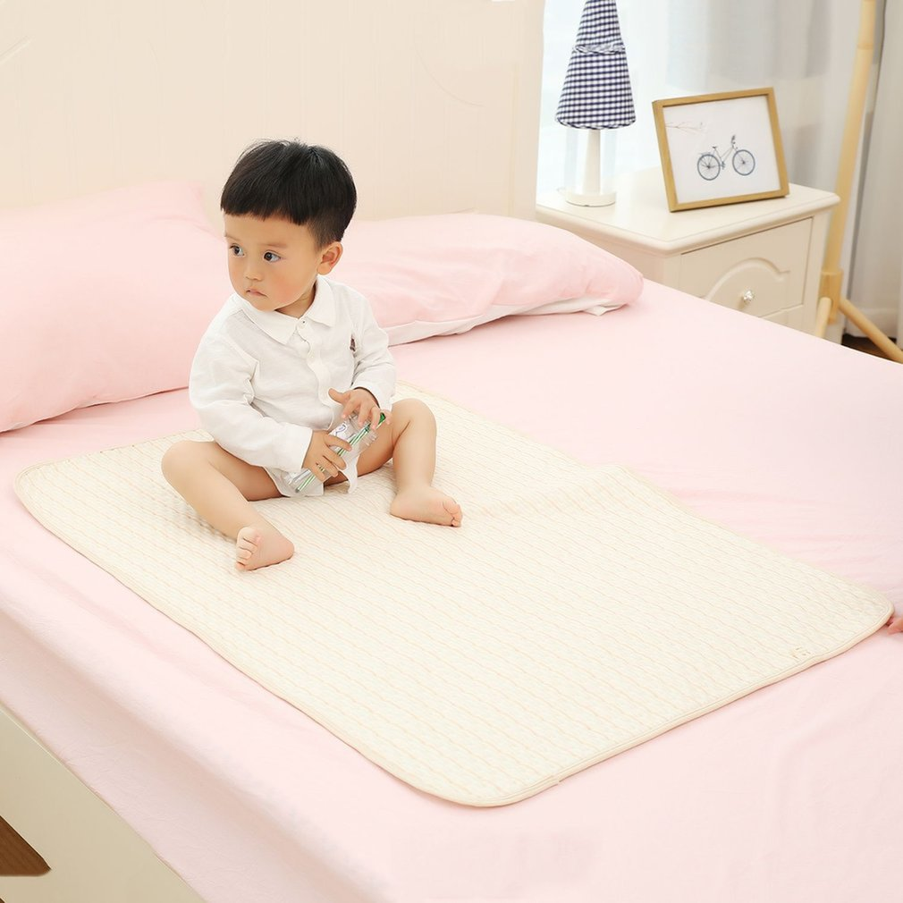 Stripe Organic Cotton Waterproof Layer Baby Changing Urine Pad Bed Sheets Diaper Lining