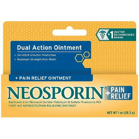 4 Pack - Neosporin Plus Pain Relief, Maximum Strength Antibiotic Ointment 1 (Maximum Strength Antibiotic)
