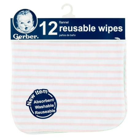 gerber flannel reusable wipes 12 count