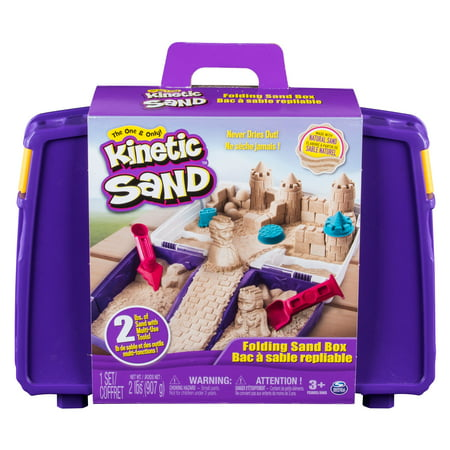 Kinetic Sand, Folding Sand Box with 2lbs of Kinetic Sand and Mold and