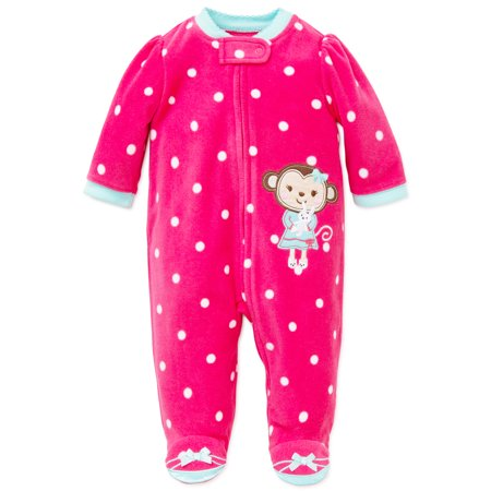 4e856d1a7088 Little Me Monkey Blanket Sleeper Warm Fleece Footie Footed Pajamas ...