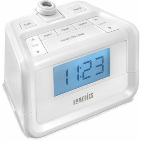 soundspa digital fm clock radio with time projection. Black Bedroom Furniture Sets. Home Design Ideas