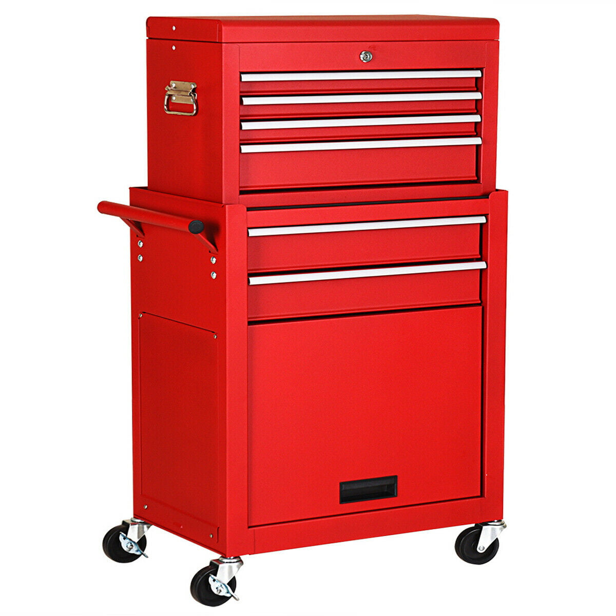 2in1 Rolling Tool Cart Wheeled Storage Cabinet Organizer Drawer Chest