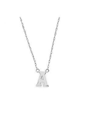 best service 5e39a 03b91 Product Image 14K White Gold  A  Initial Necklace