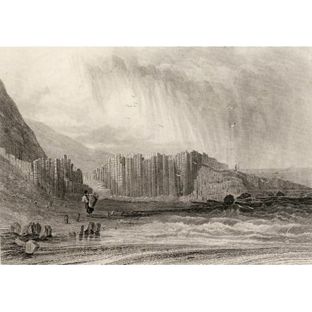 Giants Causeway County Antrim Northern Ireland Drawn By A Nicholl Engraved By E Radclyffe PosterPrint