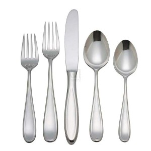 PLACE SET, STAINLESS STEEL, LUXURY HOLLISTON COLLECTION (SET OF 5)
