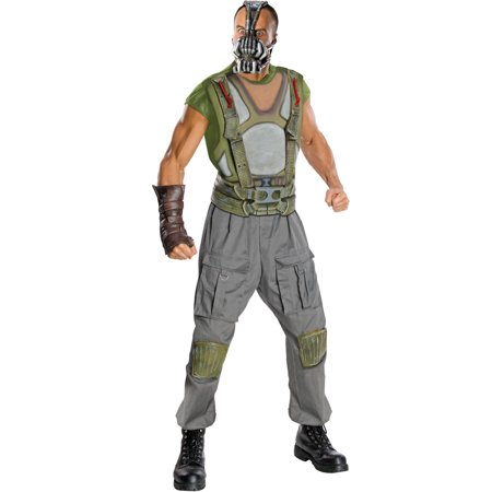 Batman Dark Knight Rises Bane Mask (Deluxe Bane Batman The Dark Knight Rises Mens Halloween Adult Costume)
