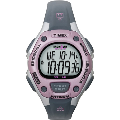 Timex Women's Ironman Classic 30 Mid-Size Watch, Gray Resin Strap by Timex
