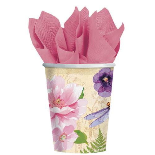 Spring Fling 9oz Cups (8 Pack) - Party Supplies