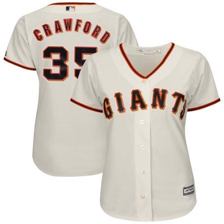 sale retailer a9baf 5c1e2 Brandon Crawford San Francisco Giants Majestic Women's Cool Base Player  Jersey - Cream