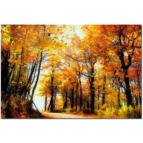 "Trademark Fine Art ""Fall Scene"" Canvas Art by Lois Bryan"