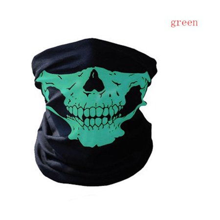 Bicycle Ski Skull Half Face Mask Ghost Scarf Multi Use Neck Warmer COD](Scary Half Face Mask)