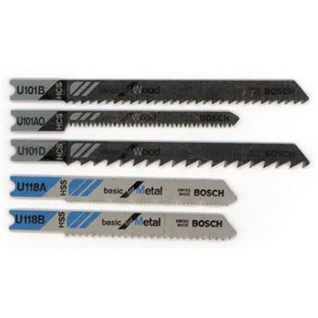 Robert Bosch Tool Group 700797 Assorted Universal Shank Jig Saw Blade - Pack of 5