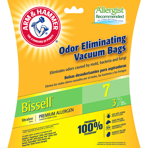 Arm & Hammer 9-Pack Odor Eliminating Vacuum Bags, Bissell 7 �� Premium Allergen