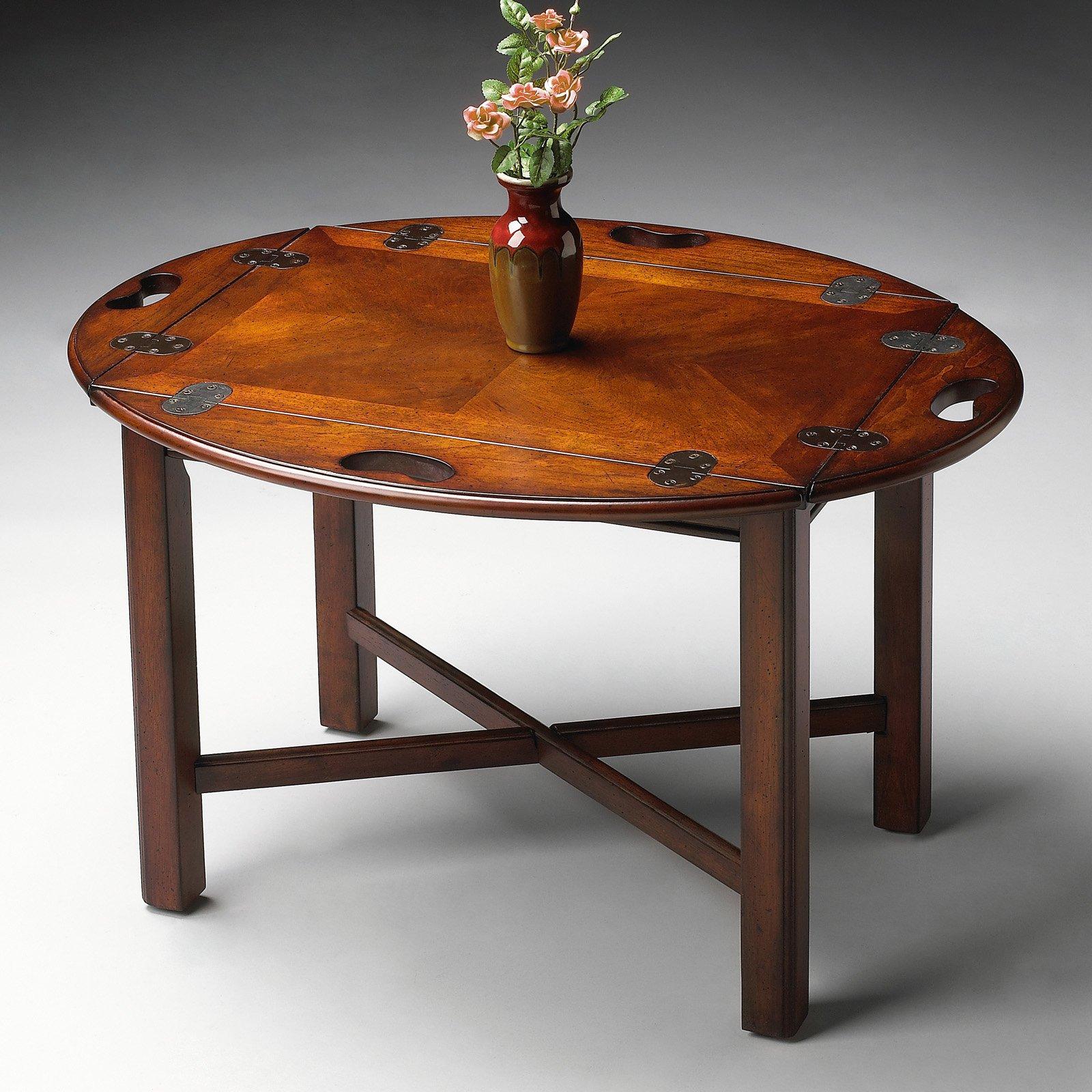 butler table - plantation cherry - walmart