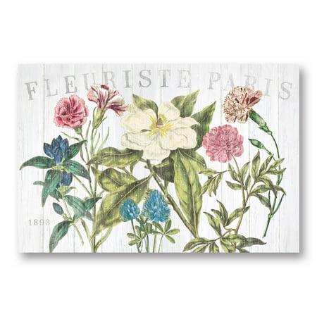 Gango Home Decor Cottage Fleuriste Paris I by Wild Apple Portfolio (Printed on Paper); One 18x12in Unframed Paper Poster