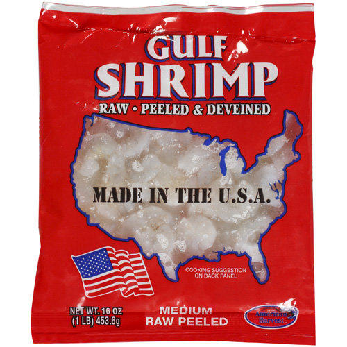 Gulf Shrimp Medium Raw Peeled, 16 oz