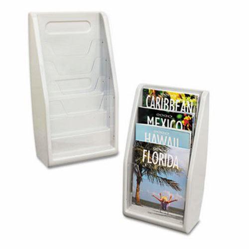 deflecto Multi-Tiered Desktop/Wall-Mount Literature Holders, 10 5/8w x 19 7/8h, Gray