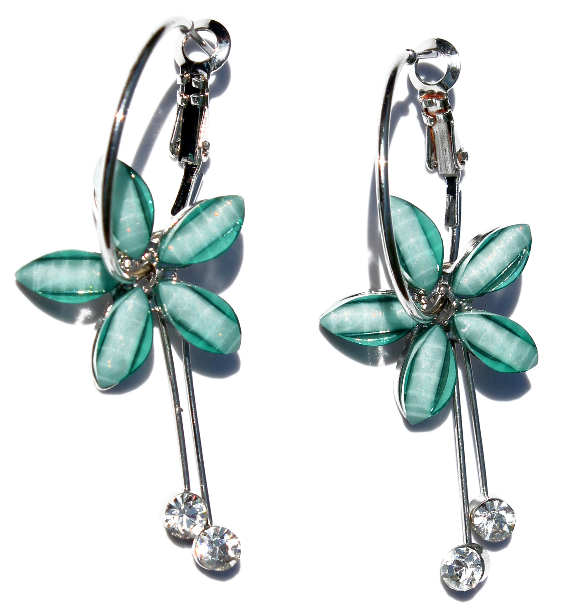 Women's Fashion Hawaii Plumeria Flower Earrings
