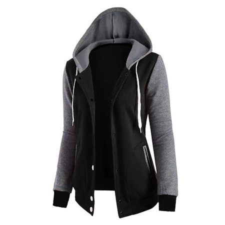 Women's Sports Hoodies Jacket with Pockets for Juniors, Long Sleeve Thin Fabric Hooded Coats for Women , Pullove Tops Outwear Blouse Coat for Women