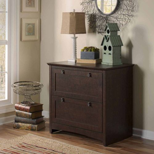 Bush Furniture Buena Vista 2-Drawer Lateral Filing Cabinet, Madison Cherry