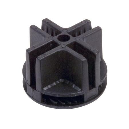 7 Way Plastic Connector - Econoco 4-Way Plastic Grid Panel Connector, Black (Pack of 100)