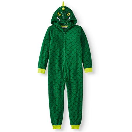Komar Kids Boy's Dinosaur Hooded Pajama Sleeper (Little Boys & Big Boys)](Onesie Dinosaur Pajamas Adults)
