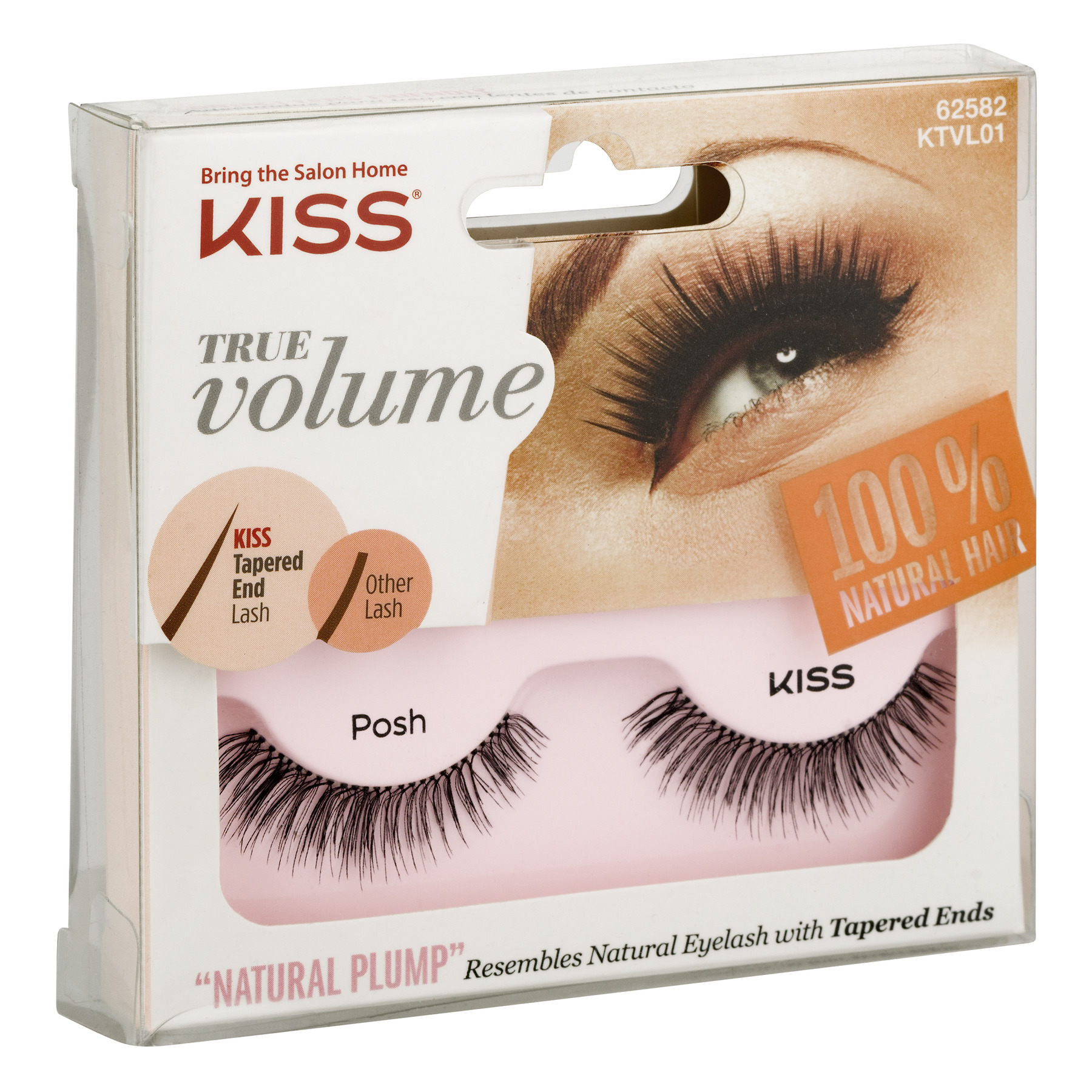 Kiss True Volume Natural Plump Eyelashes Posh Walmart